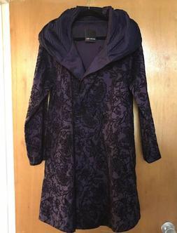 Mycra Pac Now Coat 2 M/L Donatella Purple Black Short Rain R