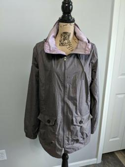 NWOT Women's Columbia Jacket Coat Size XL Purple Nylon Rainc