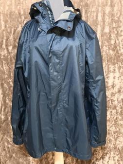 NWOT LLBean Womens Windbreaker Nylon Jacket Rain Coat Trail