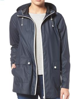 NWT $400 Cole Haan Hooded Rain Jacket NAVY Size XS