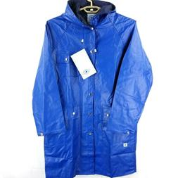 NWT Charles River Apparel Blue Waterproof Rain Coat Knee Len