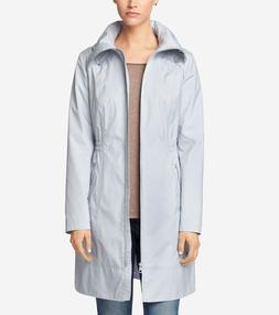 nwt grey hooded packable raincoat jacket size