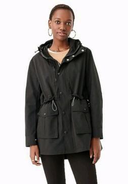 NWT J Crew Perfect Rain Jacket Sz M Black $120 Blogger Fave!