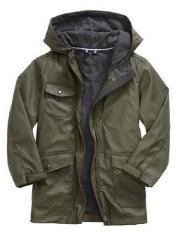 NWT GAP Kid Rain Slicker Raincoat Jacket Coat Jersey Lining