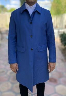 NWT Eidos Napoli Cotton Rain Coat EUR 50 R US 40 R Made In I