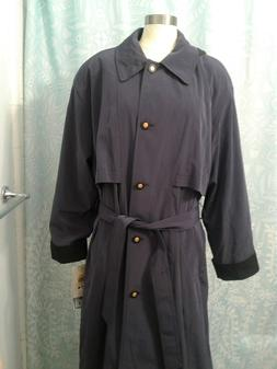 NWT Women's CS Amerex Purple Hooded Trench Coat / Rain Coat