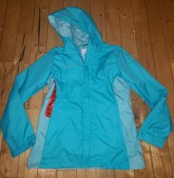 NWT Women's Teal COLUMBIA Rain Jacket Coat Size Large L