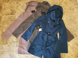 Nwt Womens London Fog Jacket Rain Coat Water Resistant Trenc