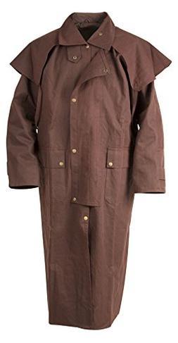 Mens Oil Cloth Oilskin Western Australian Waterproof Duster