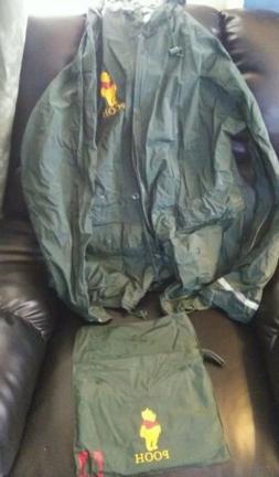 One size fits all Disney Winnie The Pooh Green Rain Coat new