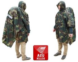 Outdoor Camping Hiking Rain Cover One Piece Raincoat Poncho