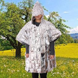 Outdoor Reflective Emergency Blanket Warm Raincoat First Aid
