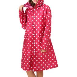 Outdoor Waterproof Girl Lady Hooded Raincoat Women Travel Ri