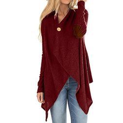WEUIE Women Outwear Clearance Sale! Women Long Sleeve Patchw