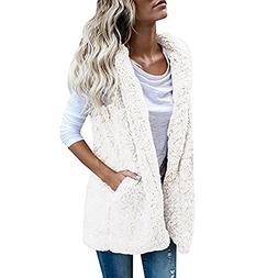 WEUIE Women Outwear Clearance Sale! Womens Vest Winter Warm
