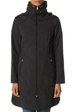 cole haan Packable Hooded Rain Coat in Black size L NWT $350