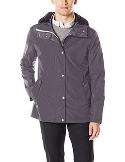 Men's Cole Haan Packable Hooded Rain Jacket, Size Large - Gr