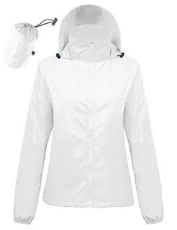 Kate Kasin Men's Unisex Packable Sports Jacket Windproof Pon