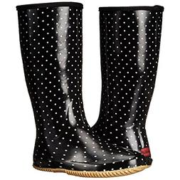 Chooka Women's Packable Rain Boot, Classic Dot Black, 9 M US