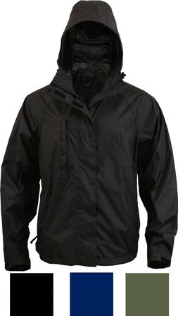 Packable Rain Jacket with Zippered Pouch Easy Carry Lightwei