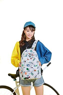 Padded Water Resistant Backpack Bag for Girls – White with