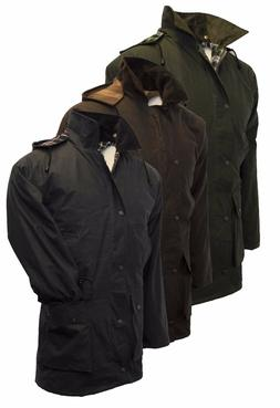 Walker & Hawkes Padded Wax Jacket COTTON Waxed Coat XS-5XL O
