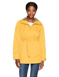 Columbia Women's Pardon My Trench Rain Jacket, Yellow Ray, M