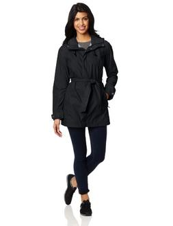 Columbia Women's Pardon My Trench Rain Jacket, Black, Large