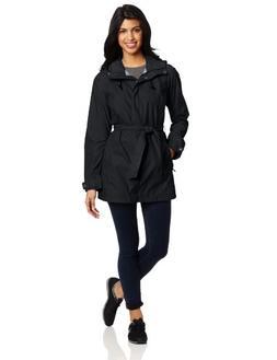 Columbia Women's Pardon My Trench Rain Jacket, Black, Medium