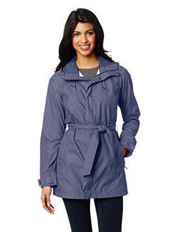 Columbia Women's Pardon My Trench Rain Jacket, Nocturnal, Me