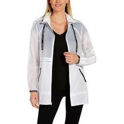 performance womens mesh trim packable rain coat
