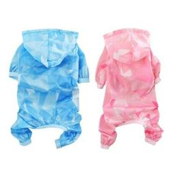Pet Dog Puppy Cat Rain Coat Jacket Rainwear Hooded Raincoat