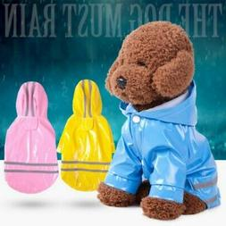 Pet Dog Rain Coat Clothes Puppy Waterproof Jacket Hooded Rai