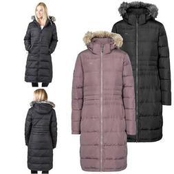 Trespass Phyllis Ladies Long Length Down Parka Coat Jacket -
