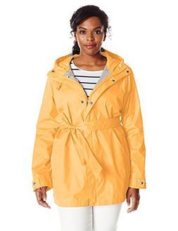 Columbia Women's Plus Size Pardon My Trench Rain Jacket, Yel