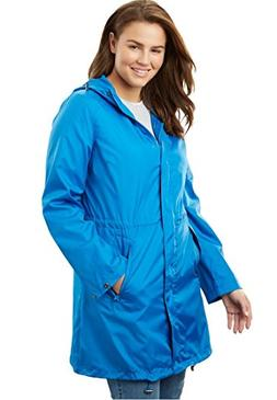 Women's Plus Size Packable Anorak Raincoat