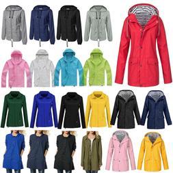 Plus Size Women Mens Long Sleeve Hooded Wind Jacket Outdoor