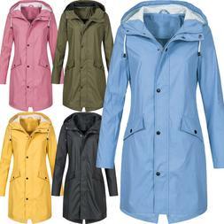 Plus Size Women's Hood Wind Jacket Outdoor Waterproof Maxi R
