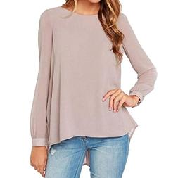 Gillberry Plus Size Tops, Womens Casual Work Chiffon Blouse