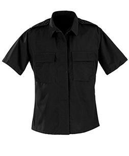 Propper Poly / Cotton Ripstop SS 2 Pocket BDU Shirt Black LR
