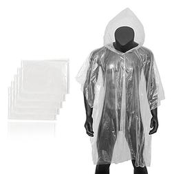 Forbidden Road Poncho with Hood 5 Pack  Emergency Disposable