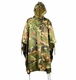 WOODLAND Nylon Military USMC Style All Weather Poncho Rain C