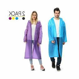 Portable Adult Rain Poncho, Opret Reusable Raincoat With Hoo