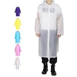 Opret Portable Adult Rain Poncho Reusable Raincoat Hoods Sle