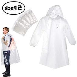 Portable Adult Rain Poncho, Emergency Rain Guard Disposable