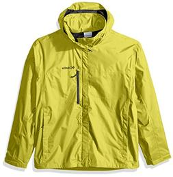 Columbia Men's Pouration Waterproof Rain Jacket, Mineral Yel