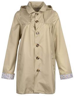 QZUnique Women's Fashion Outdoor Packable Rain Jacket Poncho