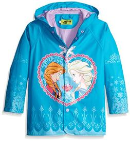Western Chief Girls Rain Coat, Frozen Anna and Elsa, 5