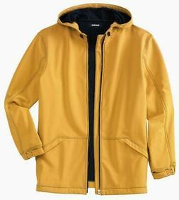 Rain Coat - Hooded Roomy Fit Fleece Lined - Tall Men 3XL - 4