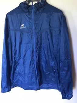 Camel Rain Coat size XL 180/104A Blue Silver Logo NWT